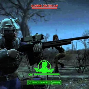 Nothing cooler looking than a Glowing Deathclaw, well maybe a headless Glowing Deathclaw - YouTube