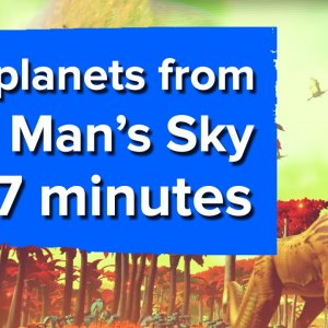 50 planets from No Man's Sky in 7 minutes (PS4 gameplay) - YouTube