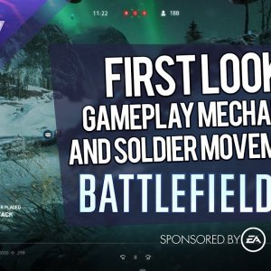 Battlefield V first look: soldier movements, fortifications, explosions - YouTube