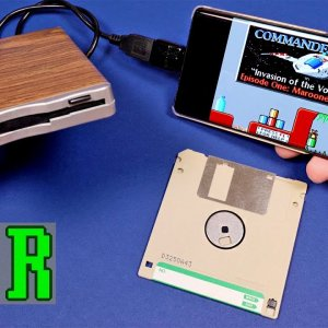 LGR - Using a Floppy Disk Drive on a Smartphone - YouTube